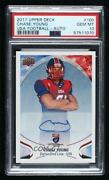 2017 Upper Deck Usa Football Flag Wave Chase Young 100.1 Psa 10 Auto
