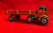 1940s Wind-up Tin Plate Litho Clockwork 6-wheel Truck Lorry, Mettoy, England