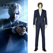 Hzym Game Resident Evil Infinite Darkness Cosplay Leon Costume Adult Men Suits