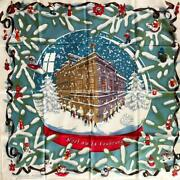 Hermes Boyfriend 90 Christmas At Fable 24 Scarf From Japan Fedex No.1179