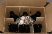 6 Pcs. California Home Products 16 Oz Amber Glass Beer Bottles With Flip Caps
