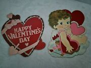 Lot Of Vintage Valentine's Day Decorations 2 Pieces