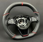 Mb W213 W205 W463 W222 Steering Wheel Perforated And Soft Leather Red