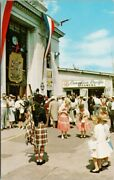 Victoria Bc Bagpiper Playing For Tourists Canadian Pacific Steamers Postcard G92
