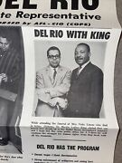 Vintage Civil Rights James Del Rio Dr. Martin Luther King C. 1963 Campaign Items