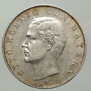 1910 D Germany Bavaria Ruled By Otto I Eagle Antique Silver 2 Marks Coin I93046