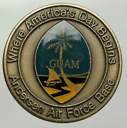 1971 Guam Us Anderson Air Force Base 36th Wing Show Piece Challenge Coin I93047