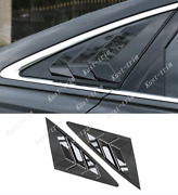 Abs Black Rear Triangular Blinds Cover Trim 2pcs Fit For Audi A6 C8 2019-2020