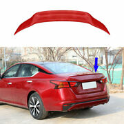 Fit For 2019-2021 Nissan Altima/teana Red Rear Sport Spoiler Trunk Lip Wing Bar