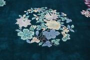 C1950s Antique Art Deco Walter Nichols Chinese Rug 8'3 X 11'3 Great Background
