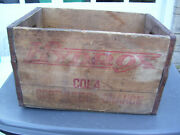 Vintage Hydrox Beverages Soda Pop Wood Crate Bottle Case Box Chicago Ill. Rare