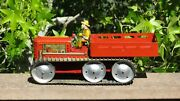 Vintage Marx Giant Reversing Tractor Truck + Driver Tin Toy