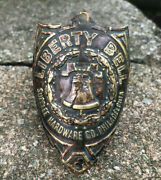 Vintage Supplee Hardware Liberty Bell Bicycle Brass Head Badge