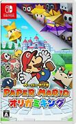 Japan Nintendo Switch Video Game - Paper Mario The Origami King
