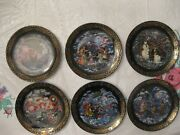 Complete Serie 6 Russian Fairy Tales Plates Andldquothe Tale Of Father Frostandrdquo 1993