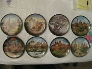 Complete Serie 8 Russian Collectable Plates Andldquojewels Of The Golden Ringandrdquo 1991