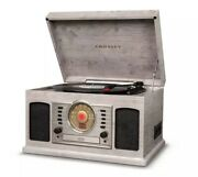 Vintage Stylized Crosley Phonograph Turntable Bluetooth Cd Tape Cassette