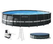 Intex 22 Ft X 52 In Swimming Pool Above Ground Set