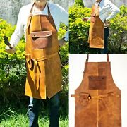 Leather 102 Apron Butcher Bbq, Grill, Kitchen, Woodwork, Barber Welding Tabacco
