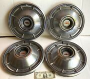 1966 Chevrolet Hub Caps 14 Set Of 4 Chevy Hubcaps 66 Wheel Covers As Shown