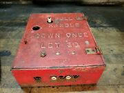 Antique Gamewell Fire Alarm Telegraph Co. Electric Mechanical Key Cast Iron /red