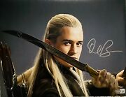 Orlando Bloom 11x14 Signed Photo Lord Of The Rings Legolas Knife Beckett Witness