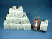 10 Almond Leviton Industrial Toggle Wall Light Switches Single Pole 20a 1221-2a
