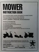 Murray Hydrostatic Drive Riding Lawn Mower Tractor Owners Manual 1996
