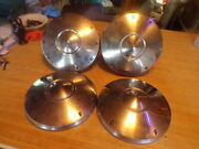 Vintage Ford Hubcaps 1950s Set Truck Dog Dish X4