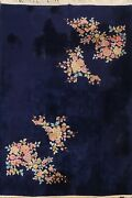 Antique Floral Art Deco Nichols Chinese Oriental Area Rug Hand-knotted Wool 9x12