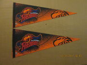 Arena 2 Albany Firebirds Vintage Defunct Lot Of 2 Arena Logo Football Pennants