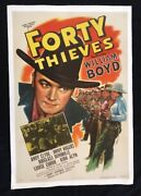 Hopalong Cassidy Forty Thieves Original 1 Sheet Movie Poster Linen Backed 1944