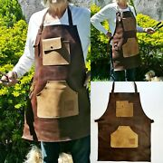 Jojo Leather 101 Apron For Butcher Bbq Bbq, Grill, Kitchen, Woodwork ,barber,