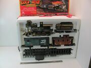Rare Gold Rush Express G-scale Train Set By New Bright No.186