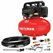 Craftsman Air Compressor 6 Gallon Pancake Oil-free With 13 Piece