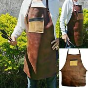 Heavy-duty Work Leather 101 Apron For Bbq,grill,kitchen,woodwork,barber,welding