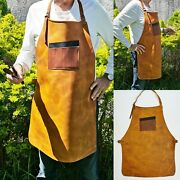 Jh--heavy-duty Work Leather Apron For Bbq, Grill,kitchen,woodwork,barber,welding