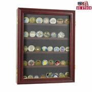 Lockable Challenge Coin Display Case Casino Chip Cabinet Frame Shadow Box