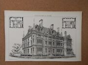 Antique Architects Print Design For A Civic Building The Building News 1882