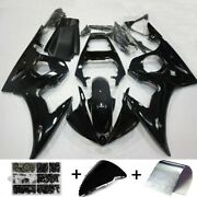 Fairing Injection Plastic Kit Gloss Black W/bolt Fit For Yamaha 2005 Yzf R6