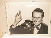 Cbs Tv Game Show Photo 1960s To Tell The Truth Bud Collyer Fingers Crossed