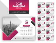 Personalised Desk Calendar Month New Year High Quality - 300 Gsm A5