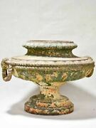 Superb 19th Century French Cast Iron Garden Urn With Rope Detail 18