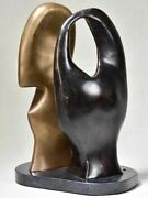1960and039s Duo Sculpture In Bronze By Michel Klein