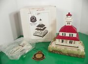 Lefton Historic American Lighthouse New Canal Lighted 2001 Louisiana 14920