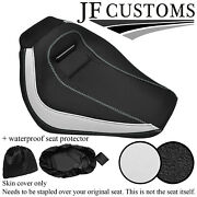 White And Grip Custom For Harley Davidson Breakout 18-19 Front Seat Cover + Wsp
