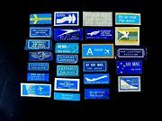 Mini Lotof 25 Different Air Mail Stickers From Many Different Airlines, Good