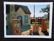 Closeout Phillips 66 Gas Truck And Station Route 66 Post Card From Terrence Moore