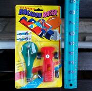 Vintage Dimestore Toy Air Powered Balloon Racer Iop Novelty Toy Plastic Race Car
