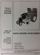 Sears Garden Tractor 3-point 8 Hp Roto Tiller Owner And Parts Manual 917.251880